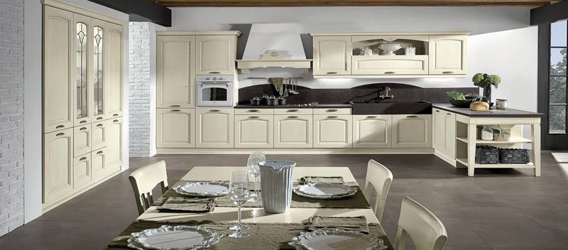 Cocina con estilo romántico