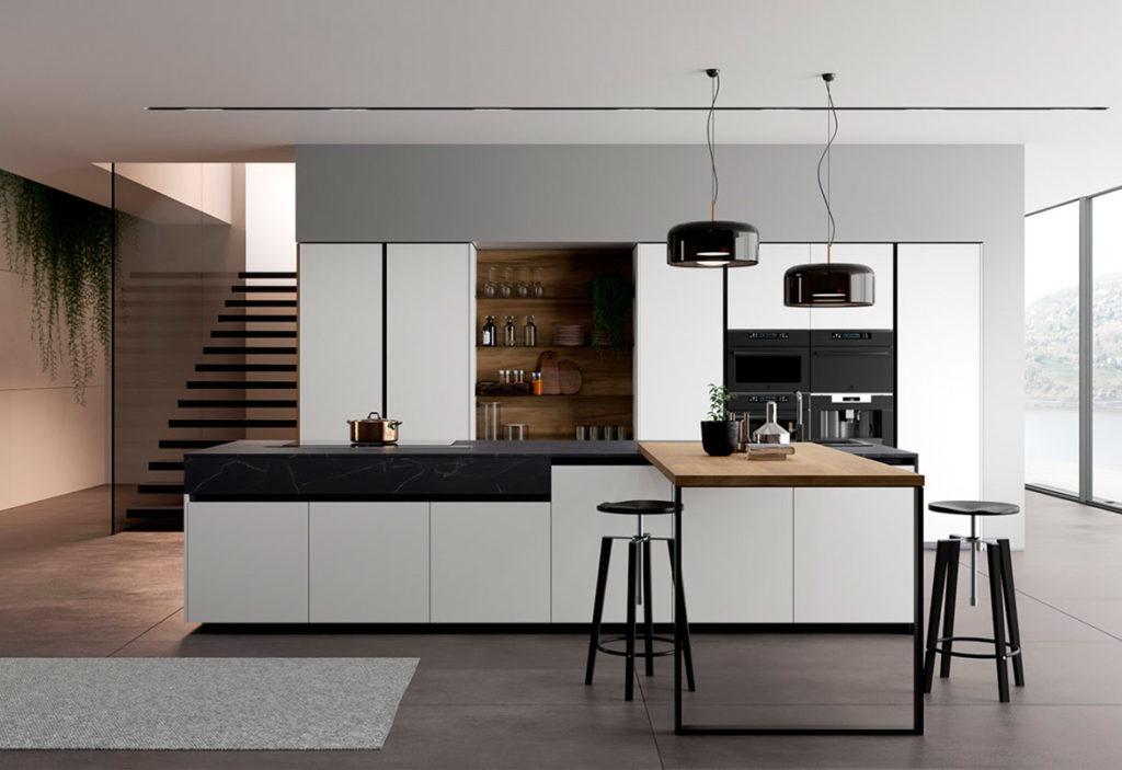 Diseño de muebles de cocina de estilo moderno