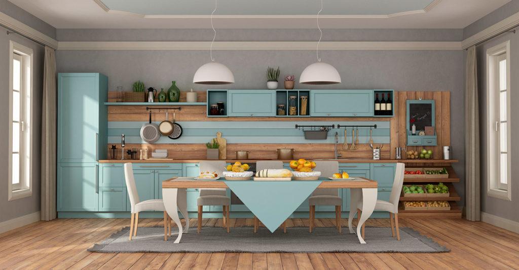 Muebles de cocina con estilo romantico